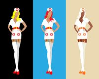 Sexy woman medical staff isolated Royalty Free Stock Photos