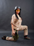 Sexy woman in military outfit Stock Photography
