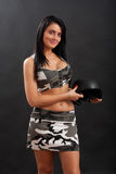 woman in military outfit Stock Images