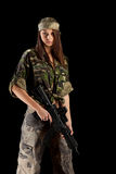 Sexy woman in military uniform Royalty Free Stock Photo