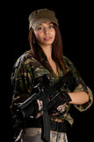 Sexy woman in military uniform Royalty Free Stock Photos