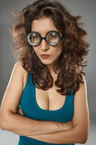 Sexy woman with nerdy glasses Royalty Free Stock Images