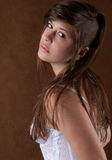 Woman With Partially Shaved Head Stock Images