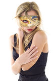 woman in party mask royalty free stock image