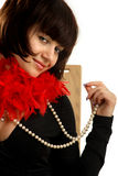 Sexy woman with a pearl necklace Stock Photo