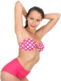 Sexy Woman Pin Up Model in a Bikini Stock Photos