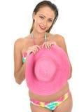 Sexy Woman Pin Up Model in a Bikini Stock Image