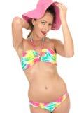 Sexy Woman Pin Up Model in a Bikini Royalty Free Stock Photo