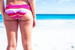 Sexy woman in pink bikini Stock Image