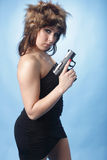 Sexy woman with pistol Stock Image