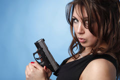 Sexy woman with pistol Royalty Free Stock Photo