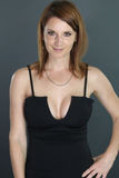 Sexy woman with a plunging neckline Royalty Free Stock Image
