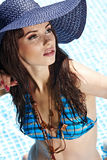 Sexy woman in the pool Stock Photos