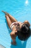 Sexy woman in pool Stock Photo