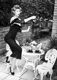 woman posing as an aristocrat - fashion shoot Royalty Free Stock Photography