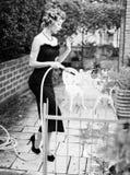 Sexy woman posing as an aristocrat - fashion shoot Royalty Free Stock Photos