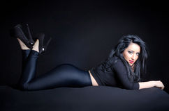 Sexy Woman In Provocative Pose Stock Images