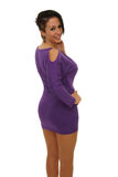 Sexy woman with purple dress Royalty Free Stock Photos