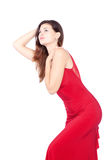 Sexy Woman In Red Royalty Free Stock Photo