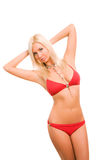Sexy woman in red bikini Royalty Free Stock Photos