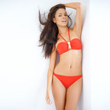 Sexy woman in a red bikini Stock Photo