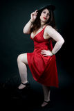 Sexy woman in red dress Royalty Free Stock Images