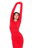 Sexy woman in red dress Stock Photography