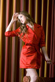 Sexy woman in red dress Royalty Free Stock Photography