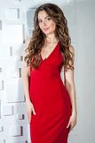 Sexy woman in red dress Royalty Free Stock Image