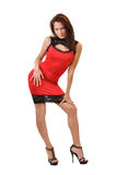 Sexy woman in the red dress Royalty Free Stock Photos