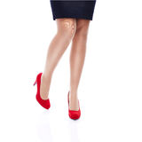 Sexy Woman in Red high heels Stock Photography
