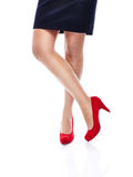 Sexy Woman in Red high heels Royalty Free Stock Images
