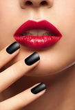 Sexy woman red  lips Stock Image