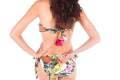 Sexy woman  and red rose flower Royalty Free Stock Images