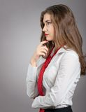 Sexy Woman with Red Tie Royalty Free Stock Photo