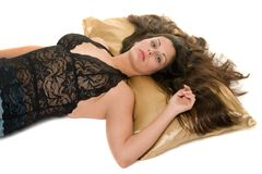 Sexy Woman Relaxing Stock Photography