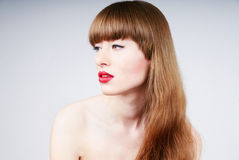 Sexy woman's glamour portrait Royalty Free Stock Images