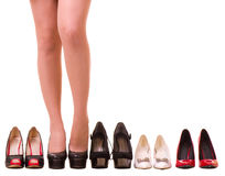 Sexy woman's legs with fashion shoes Royalty Free Stock Photo