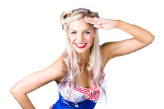 Sexy woman in sailor outfit Royalty Free Stock Photo