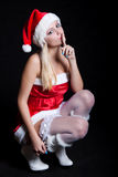 Sexy Woman Santa Claus Stock Image