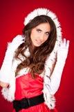 woman in santa clothes Stock Photos