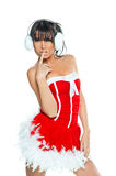 Sexy woman Santa dress Stock Photography