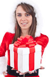 Sexy Woman with Santa Hat Stock Photography