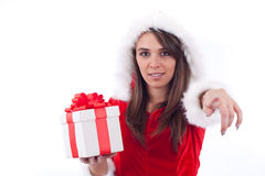 Sexy Woman with Santa Hat Royalty Free Stock Photos