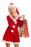 Sexy woman in Santa hat Stock Photos