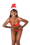 Sexy woman in Santa hat Stock Images