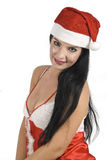 Sexy woman in Santa hat Stock Photography