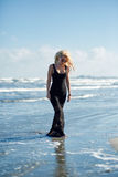 Sexy woman on the sea shore Royalty Free Stock Photo