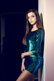 woman in shiny dress Royalty Free Stock Photos
