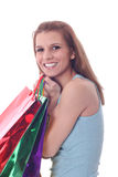 Sexy woman with shoping bags Stock Images